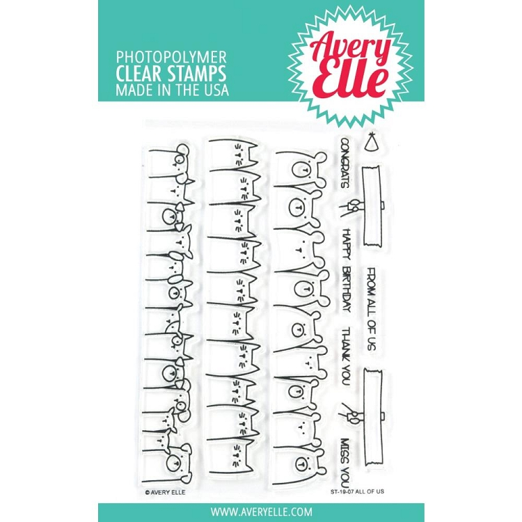 All Of Us Avery Elle Clear Stamp Set