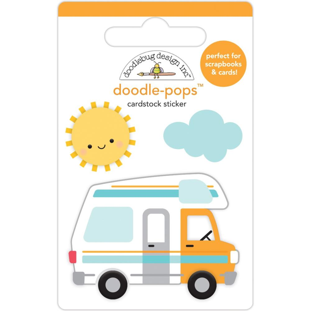Road Trip, I Heart Travel Doodle-Pops 3D Stickers