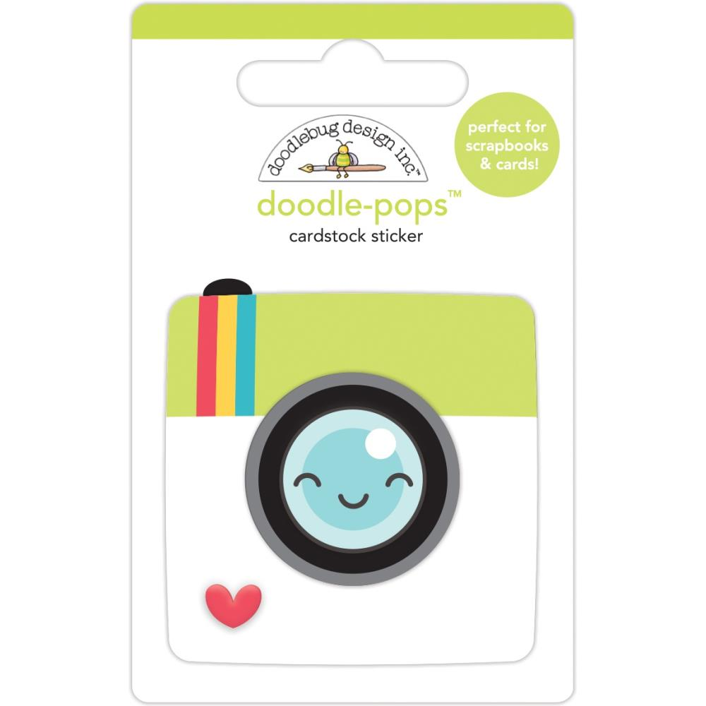 Picture Perfect, I Heart Travel Doodle-Pops 3D Stickers
