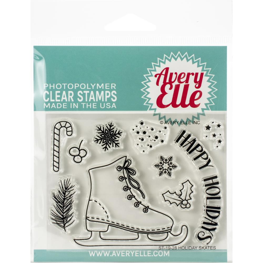 Holiday Skates Clear Stamp