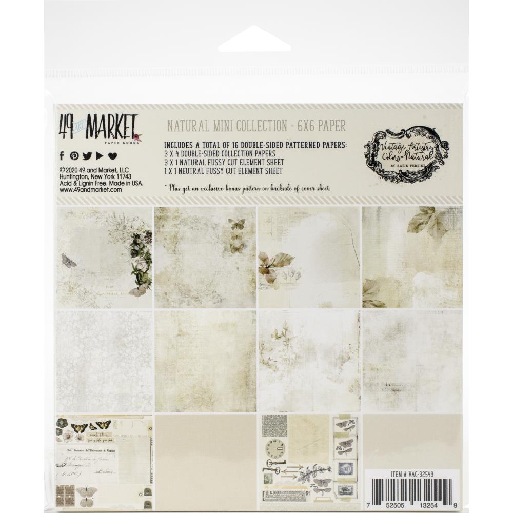 Vintage Artistry Natural 6x6 Paper Pad