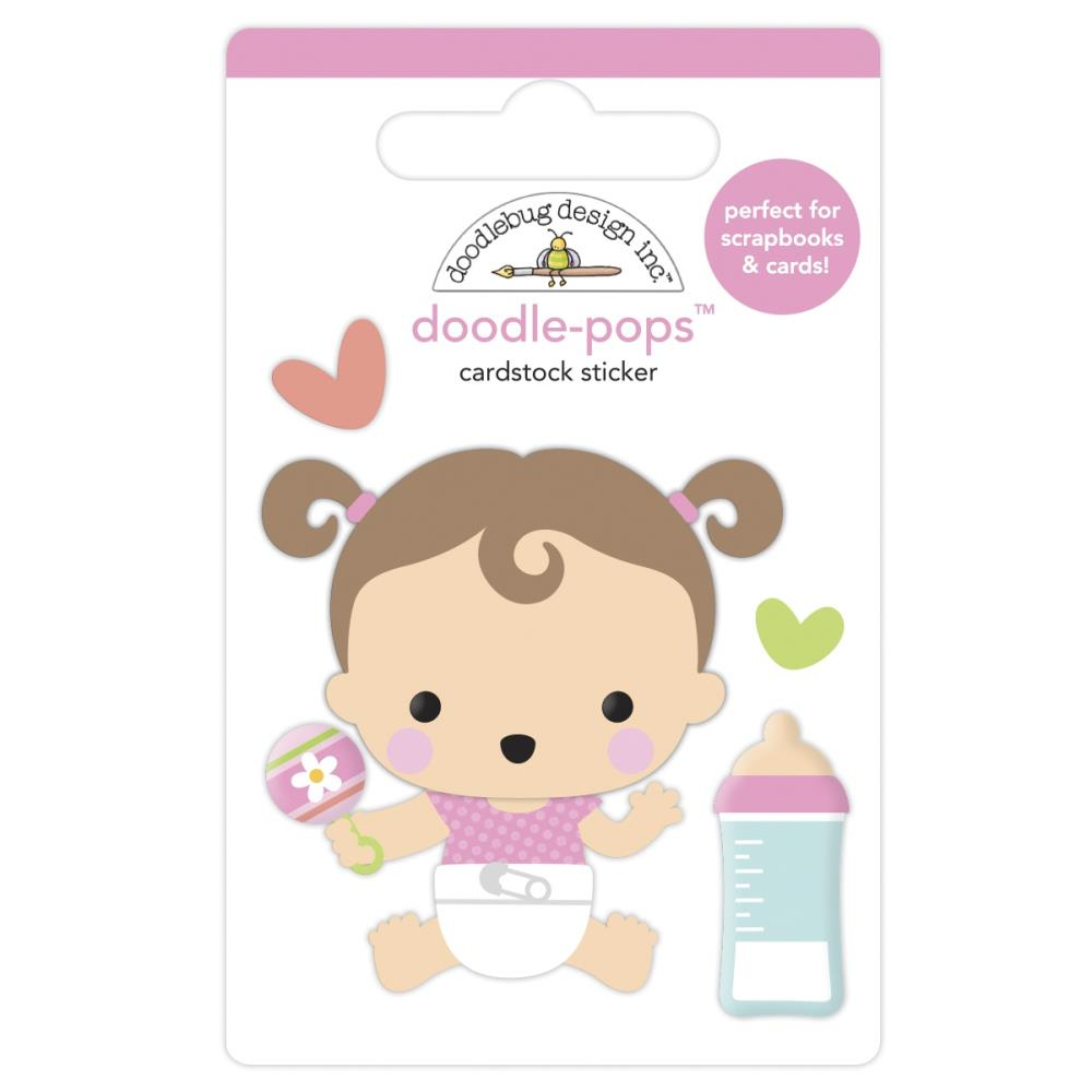 Sweet Girl, Bundle Of Joy Doodle-Pops 3D Stickers