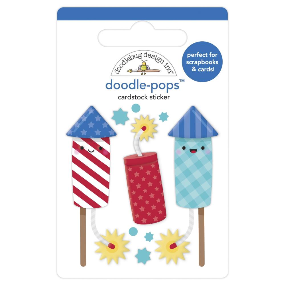 Firecrackers, Land That I Love Doodle-Pops 3D Stickers