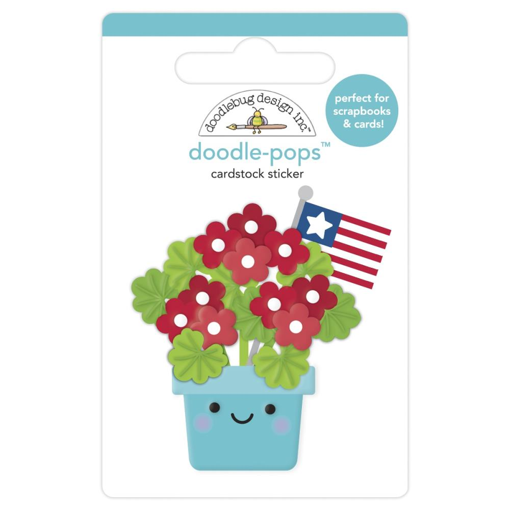 Porch Posies, Land That I Love Doodle-Pops 3D Stickers