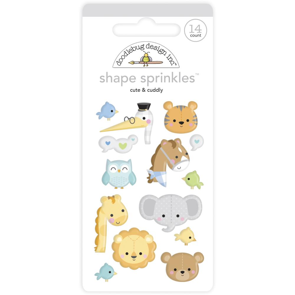 Cute & Cuddly, Special Delivery Doodlebug Sprinkles Adhesive Enamel Shapes