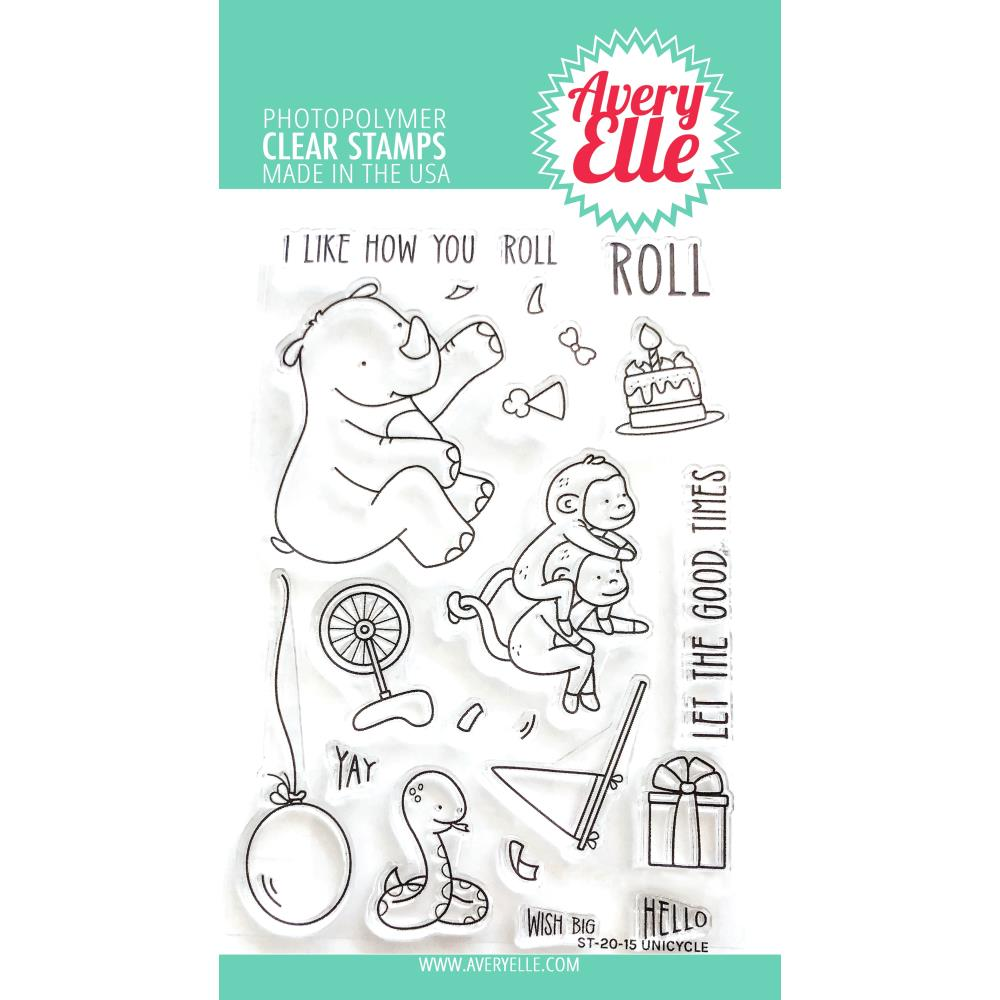 Unicycle Stamp & Die Bundle