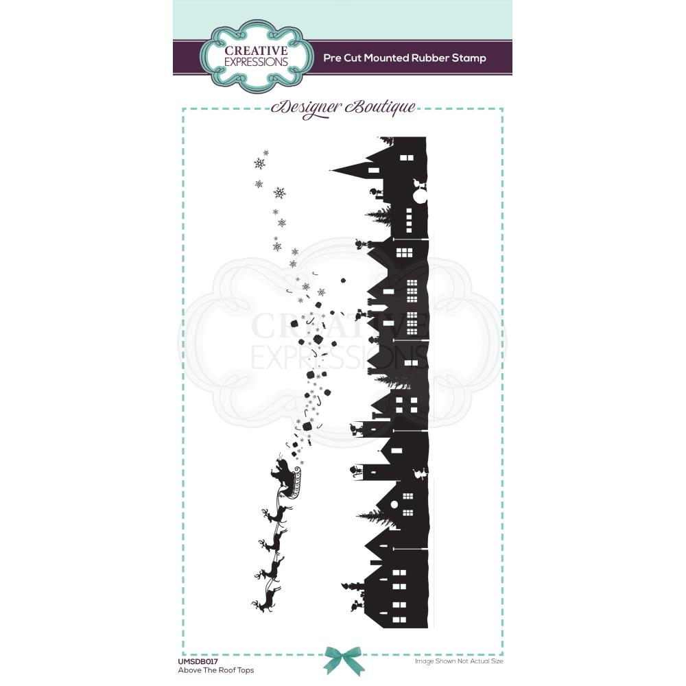 Above The Roof Tops Creative Expressions Designer Boutique Pre Cut Rubber Stamp