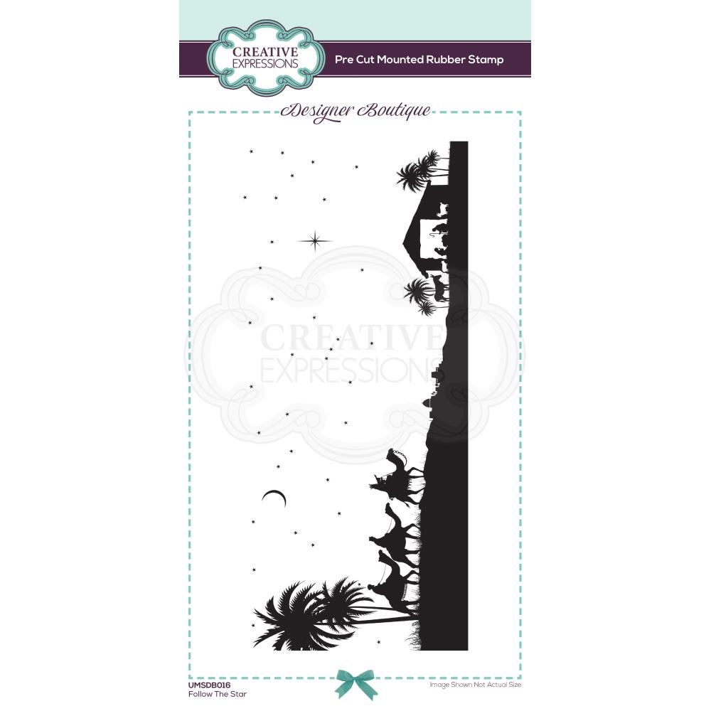 Follow The Star Creative Expressions Designer Boutique Pre Cut Rubber Stamp