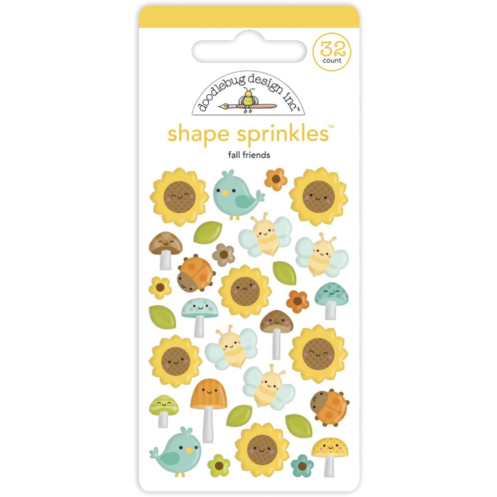 Fall Friends DB Sprinkles Adhesive Enamel Shapes