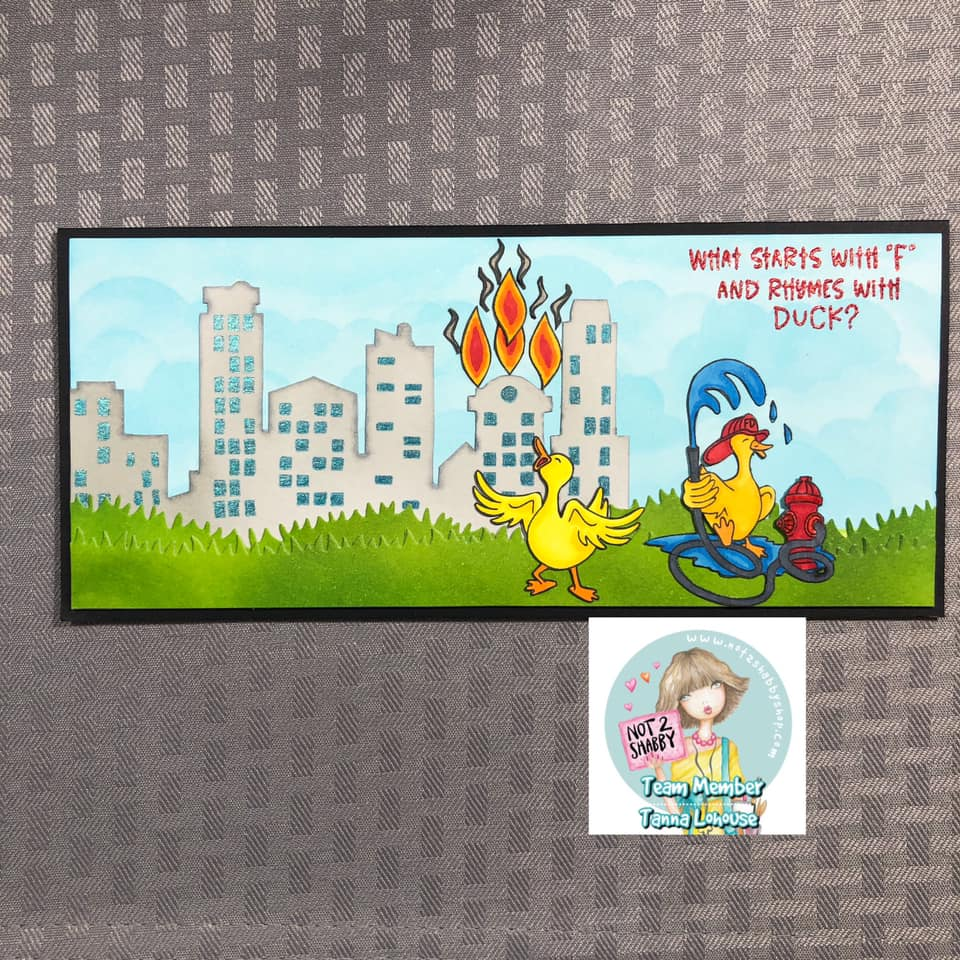 Fire Truck Duck Card by Tanna LoHouse