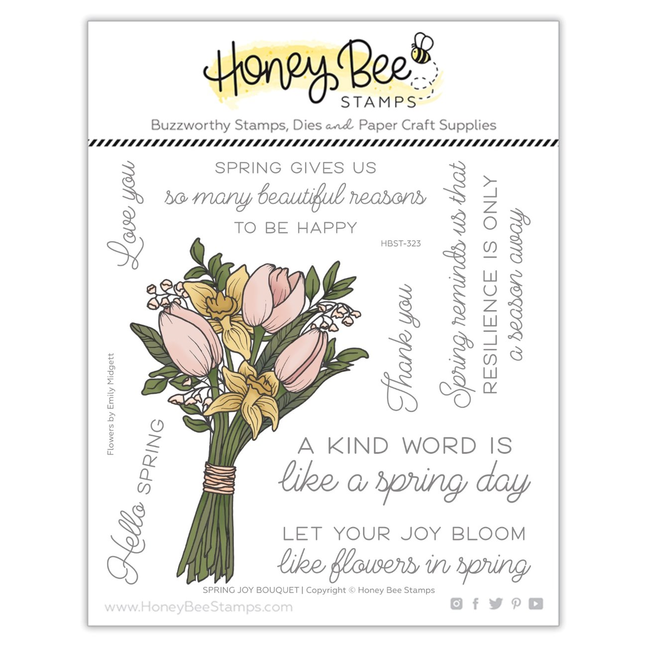 Spring Joy Bouquet | 6x6 Stamp Set