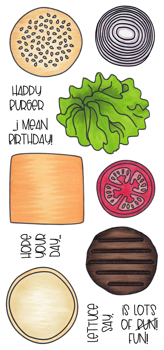 Clear Stamp Set - Build-A-Burger