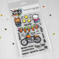 Biker Bunnies 4x6 Clear Stamp Set