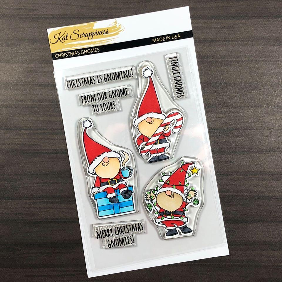 Christmas Gnome Stamp Set by Kat Scrappiness