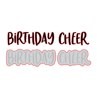 Birthday Cheer | Honey Cuts | Steel Craft Dies