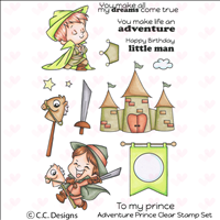 Adventure Prince Clear Stamp Set