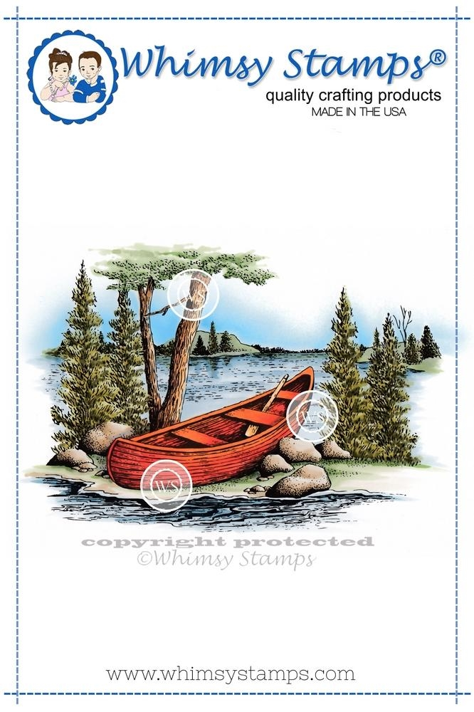 Canoe Rubber Cling Stamp