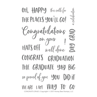 Congrats Grad | 4x6 Stamp Set