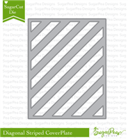 SugarCut  Diagonal Striped CoverPlate