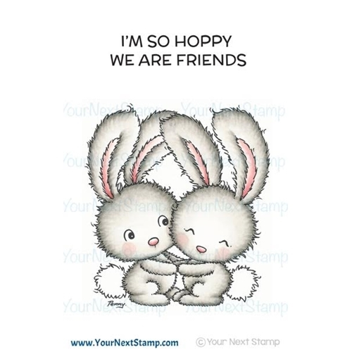 HOPPY FRIENDS Clear Stamp