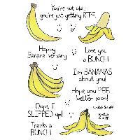 INKY ANTICS CLEAR STAMPS, BANANA