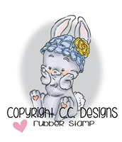 Rustic Sugar Sweet Bunny Rubber Stamp