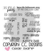 C.C. Designs Happy Birthday Sentiments Clear Stamp