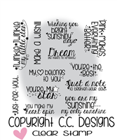 C.C. Designs Girly Sentiments Clear Stamp