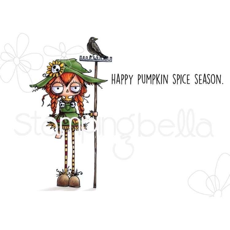 ODDBALL SCARECROW RUBBER STAMP