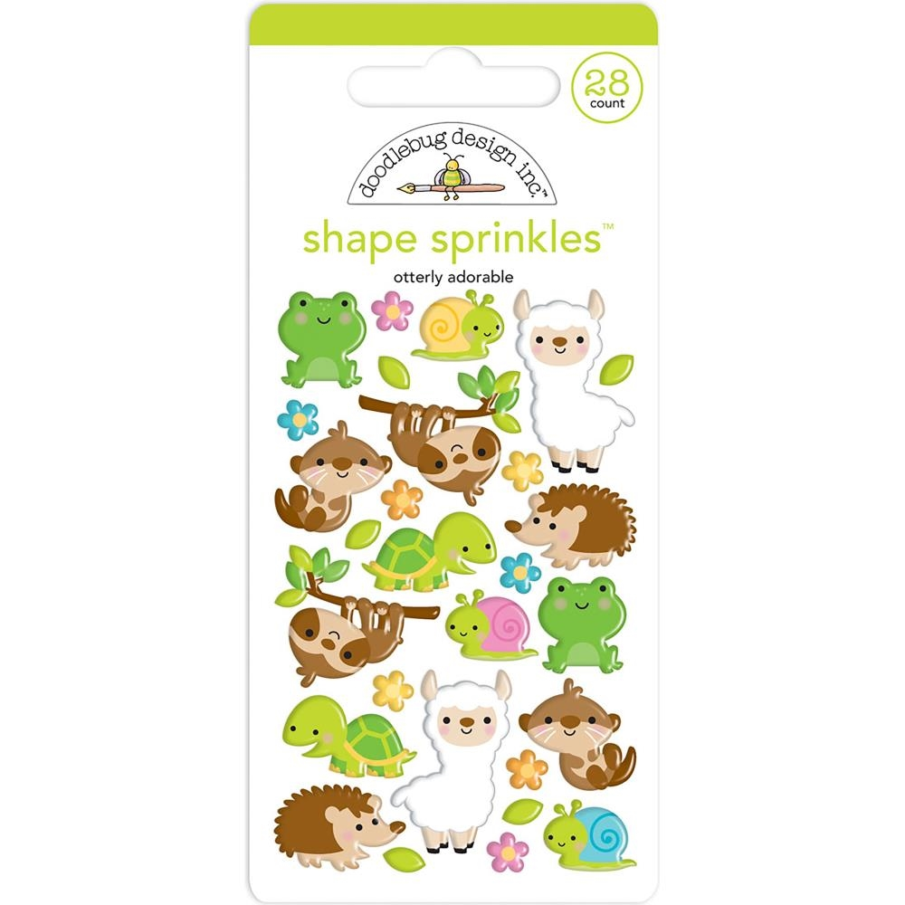 Otterly Adorable Sprinkles Adhesive Glossy Enamel Shapes