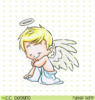 Rustic Sugar Angel Clove Rubber Stamp