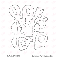 Summer Fun Outline Die