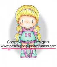 C.C. Designs Swiss Pixie Super Hero Birgitta Rubber Stamp
