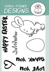 Brush Bunny 3x4 Clear Stamp