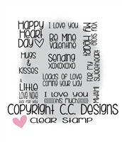 C.C. Designs XOXO Sentiments Clear Stamp