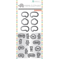 Chit Chat Mama Elephant Stamp & Die Set 4