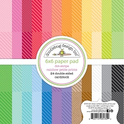 Dot-Stripe Rainbow Double-Sided Paper Pad 6