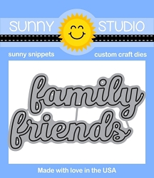 FRIENDS & FAMILY WORD DIES