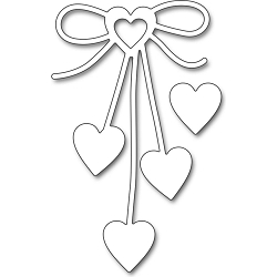 Heart Bow Penny Black Creative Die
