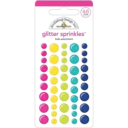 Hello Sprinkles Adhesive Glossy Enamel Glitter Dots