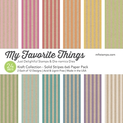 Kraft Collection - Solid Stripes Paper Pack