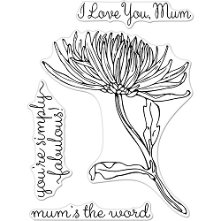 Mum Hero Arts Florals Clear Stamps 3