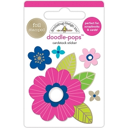 Pink Poppy Doodle-Pops 3D Stickers