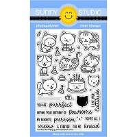PURRFECT BIRTHDAY STAMPS