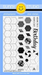 QUILTED HEXAGONS STAMPS