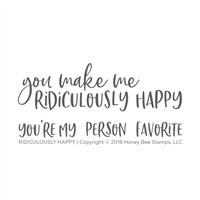 Ridiculously Happy | 2x4 Stamp Set
