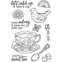 Spill The Tea Hero Arts Clear Stamps 4