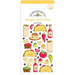 Taco-Bout Fun Sprinkles Adhesive Glossy Enamel Shapes