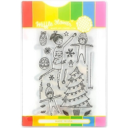 Deck The Halls Waffle Flower Stamp & Die Set