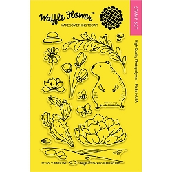 Summer Time Waffle Flower Stamp